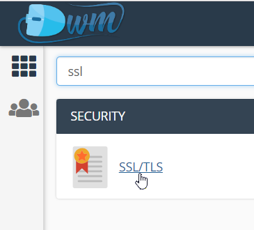 menu ssl di hosting