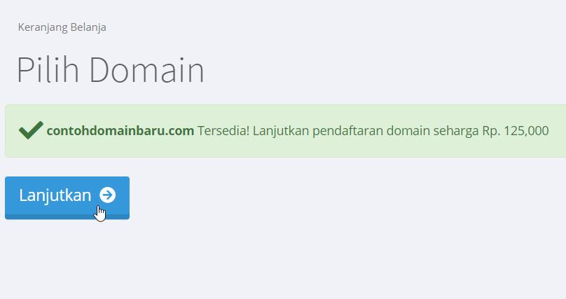 Nama domain dapat di pesan
