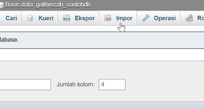 pilih import