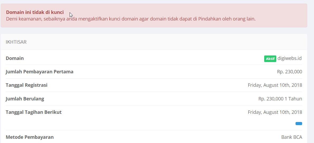 Domain ini tidak di kunci