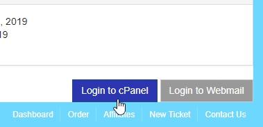 menu login cpanel tanda memasukan sandi