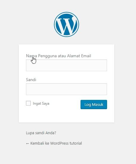 cara login wordpress