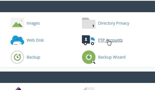 menu FTP akun