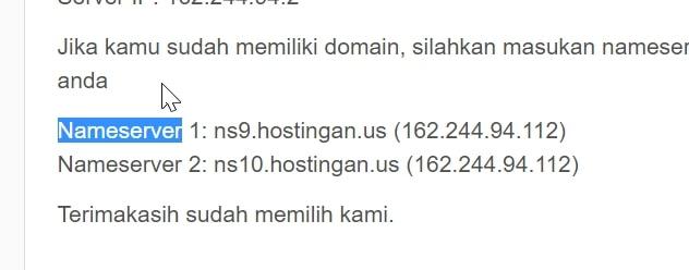 email nameserver