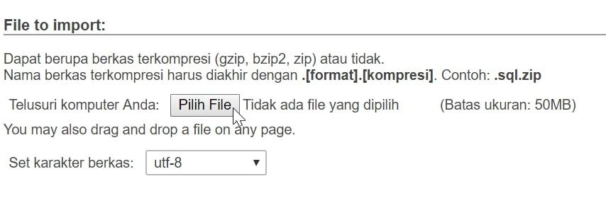 pilih filenya